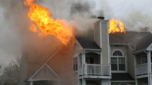 Apartment fire in Westchester County NY.