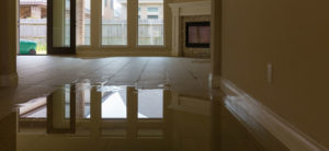 Water damage in a home in New York.