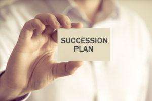 Business succession plan concept image