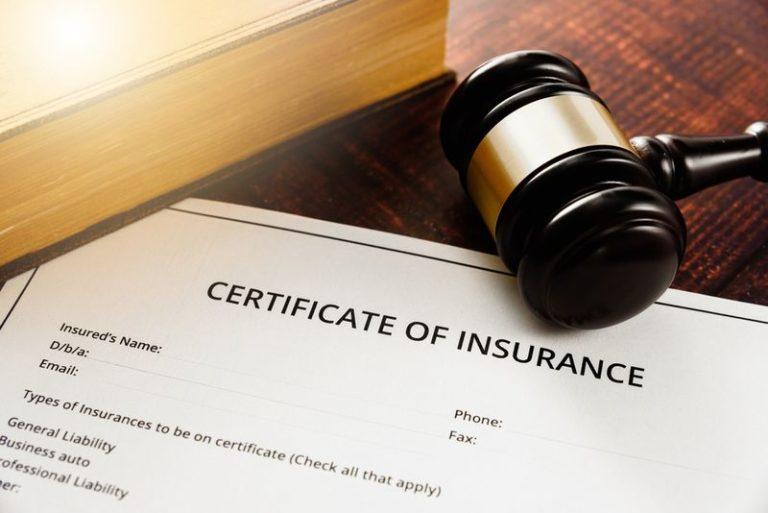 certificate of insurance
