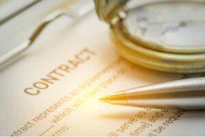 Cierre de contrato, concepto de disputas contractuales
